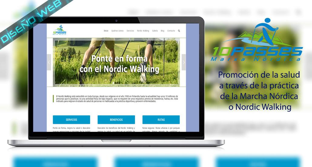 Diseño web de la empresa 10passes