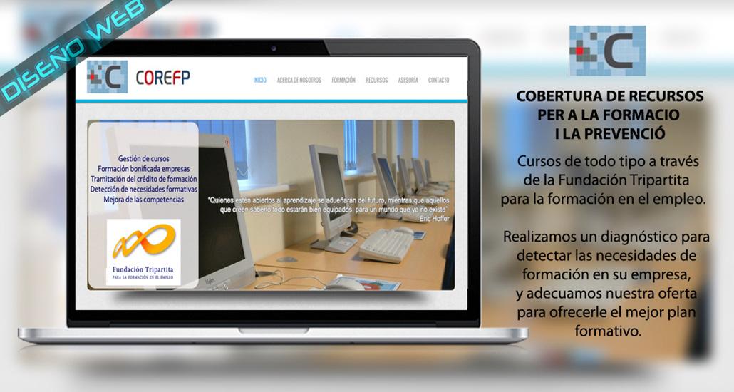 Diseño web de la empresa Cobertura de Recursos para la formacio i la prevencio