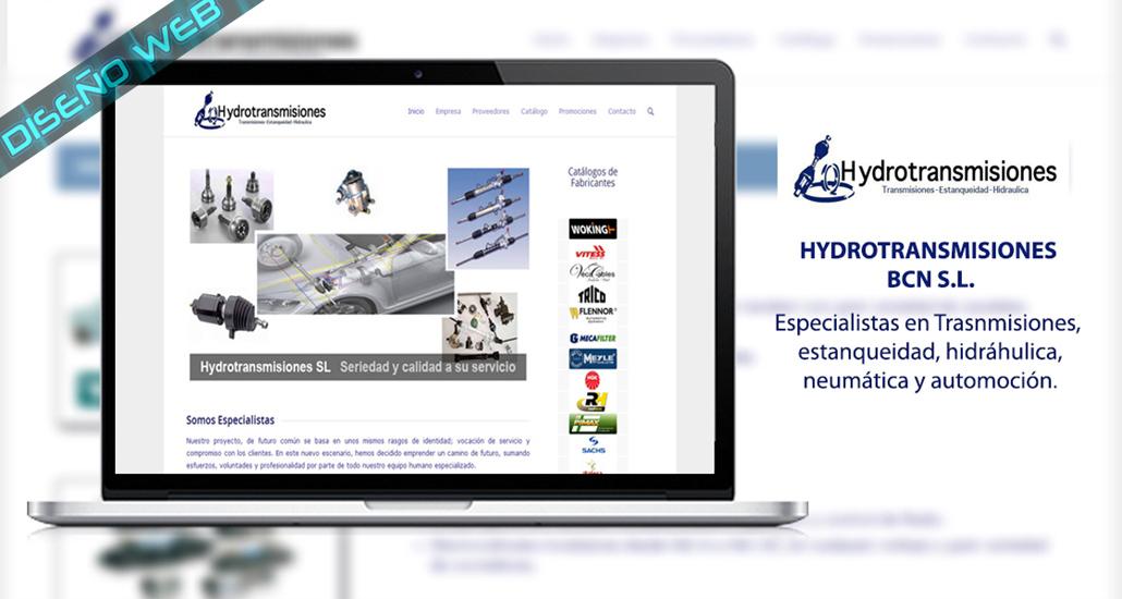 Diseño web de la empresa Hydrotransmisiones