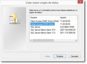 Creación de un ODBC iSeries