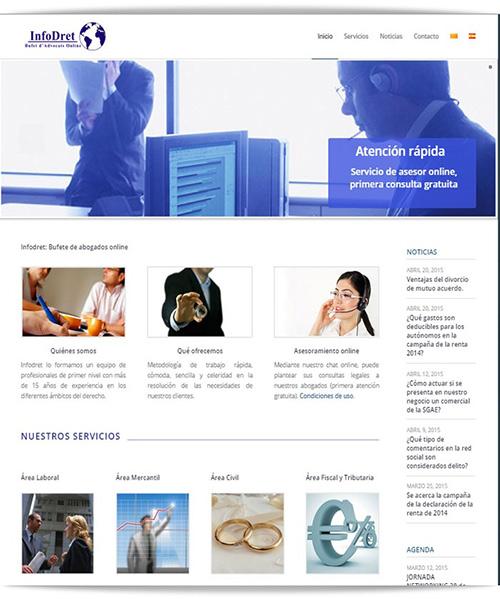 Diseño Web Bufete de abogados