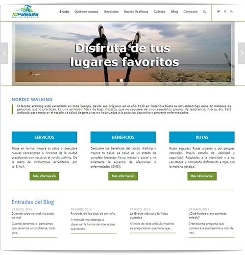 Diseño Web página de deportes