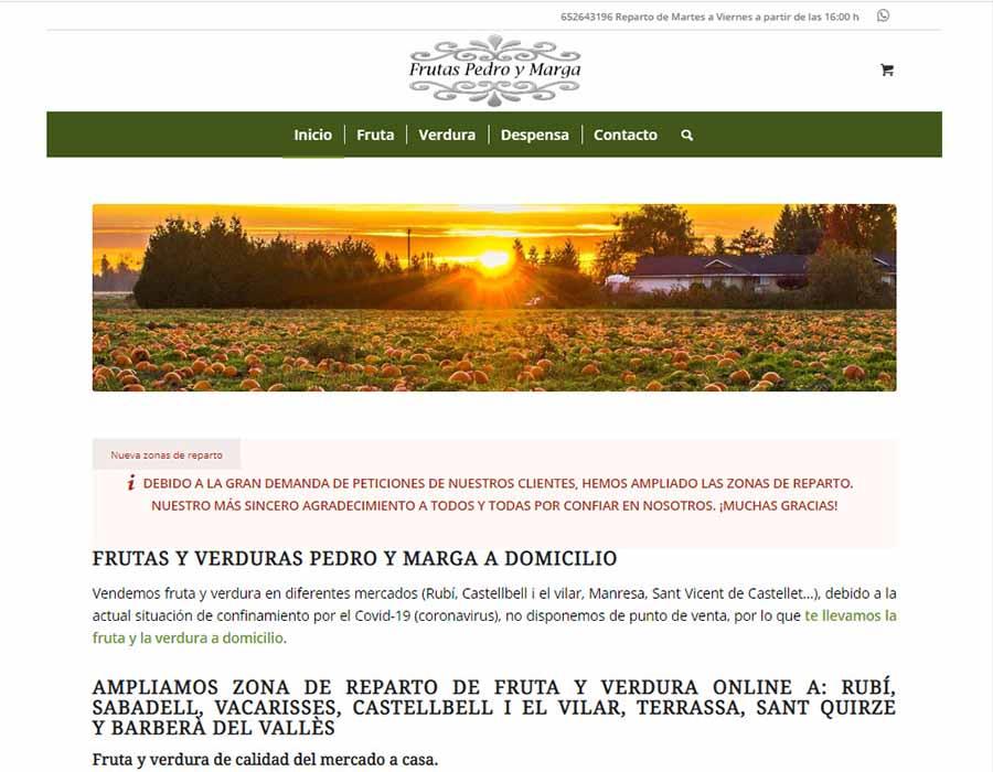 Diseño Web ecommerce frutería